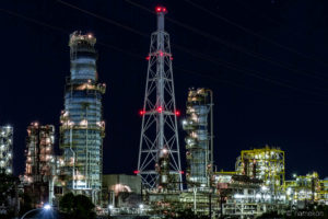 大阪国際石油精製株式会社の夜景