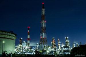 コスモ石油堺製油所の夜景