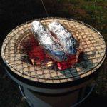 七輪で焼き芋
